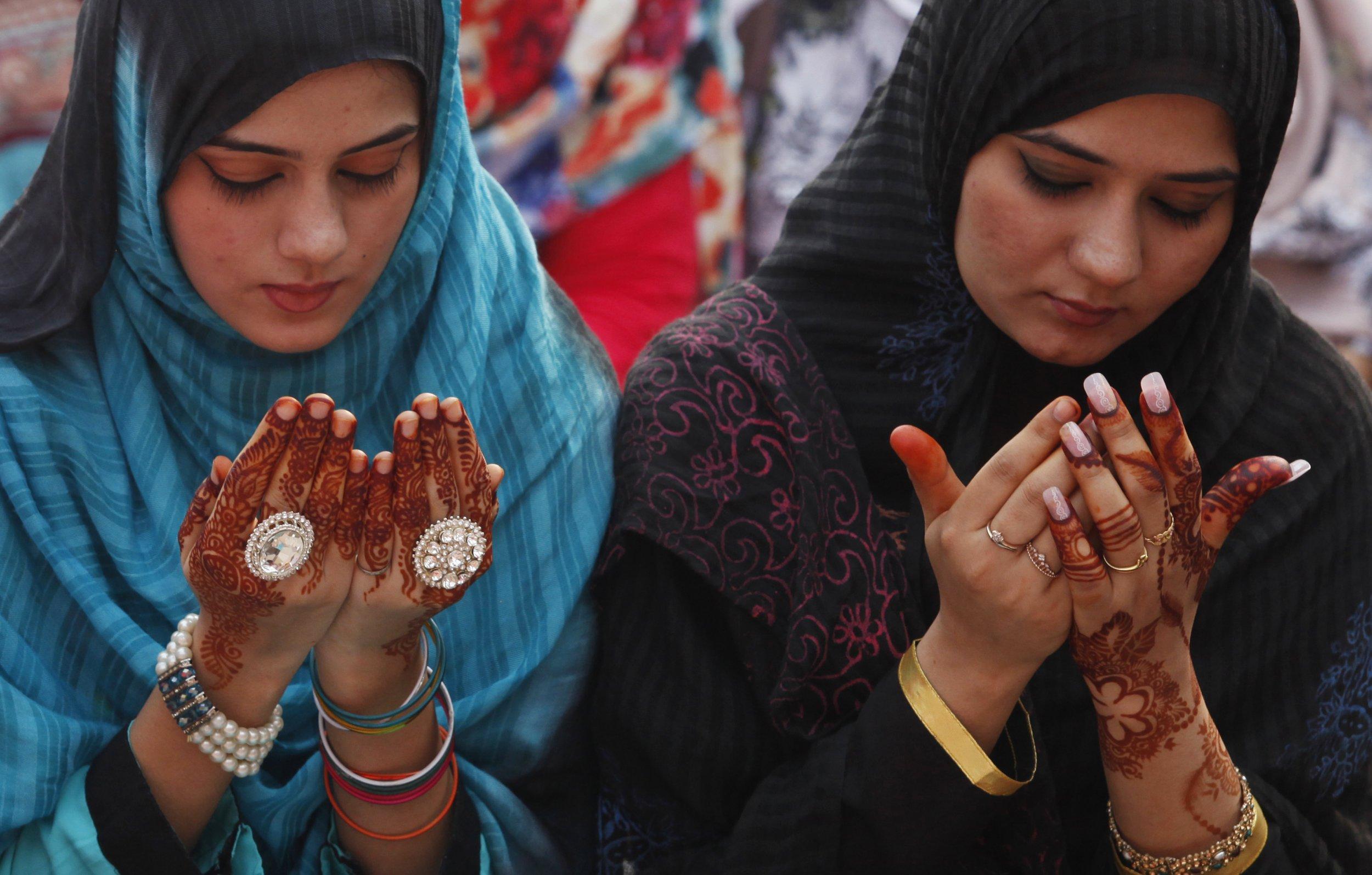 Muslim women during Eid al-Adha