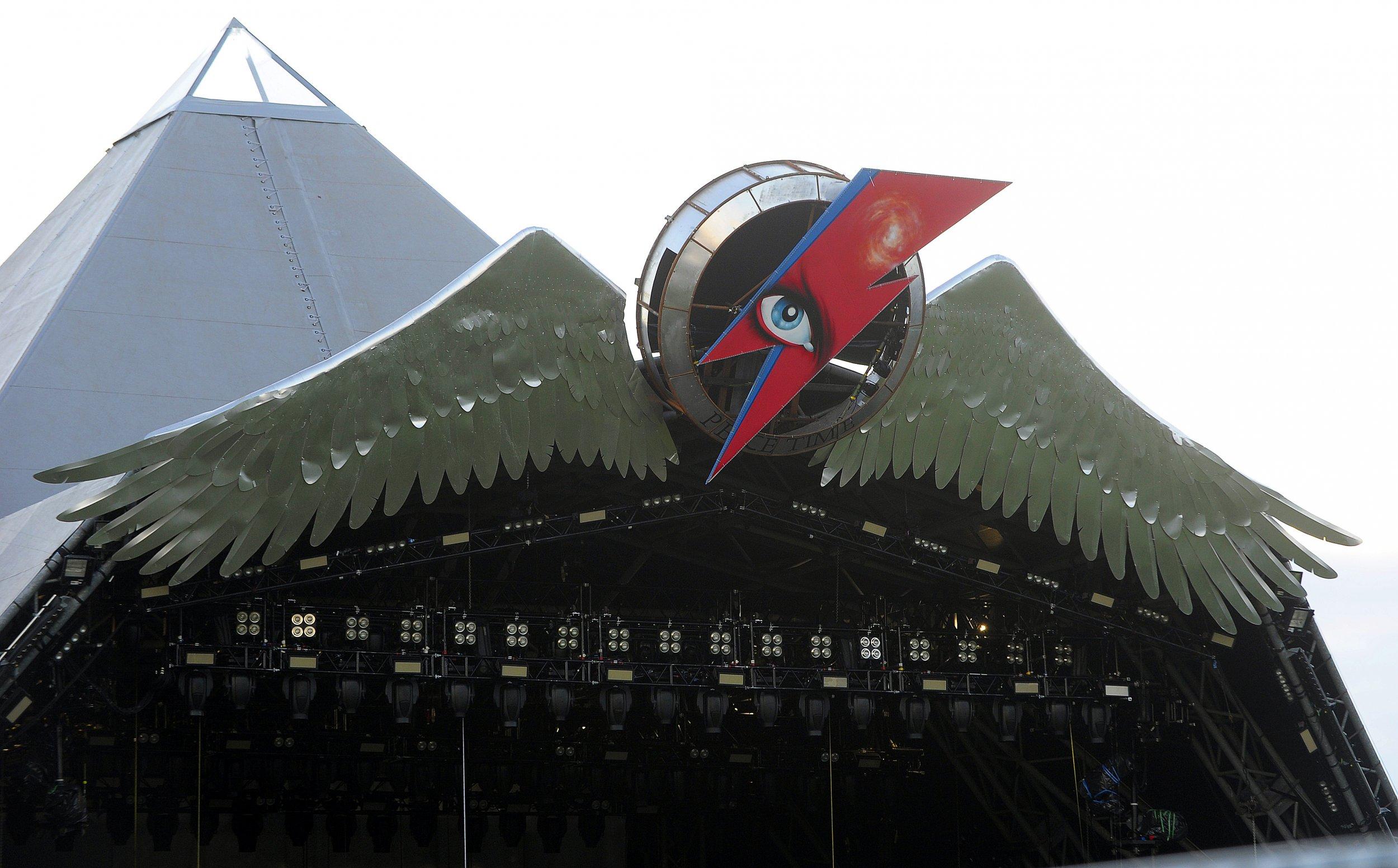 David Bowie Pyramid stage at Glastonbury