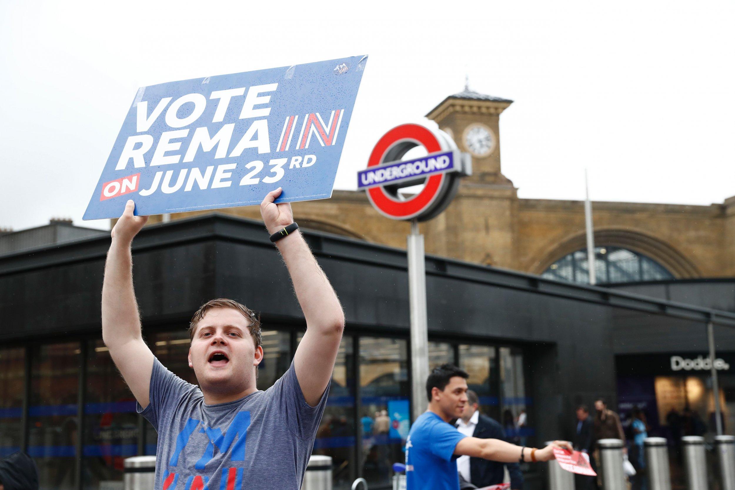 Remain voter in British referendum