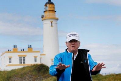 Trump on Scotland golf course