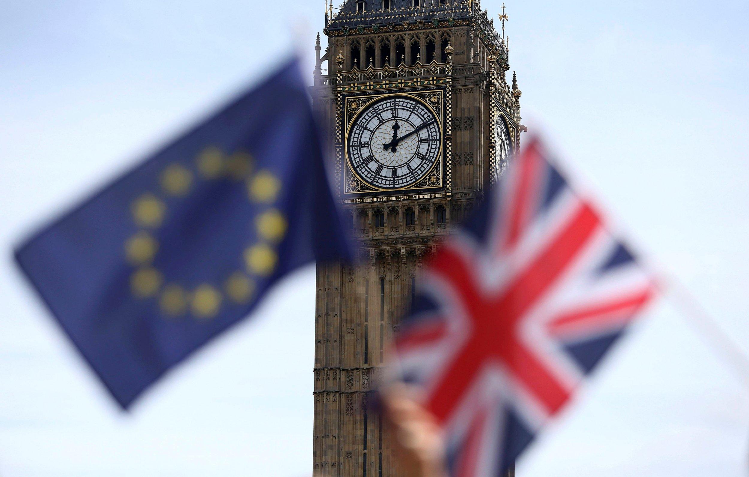 EU, UK flags
