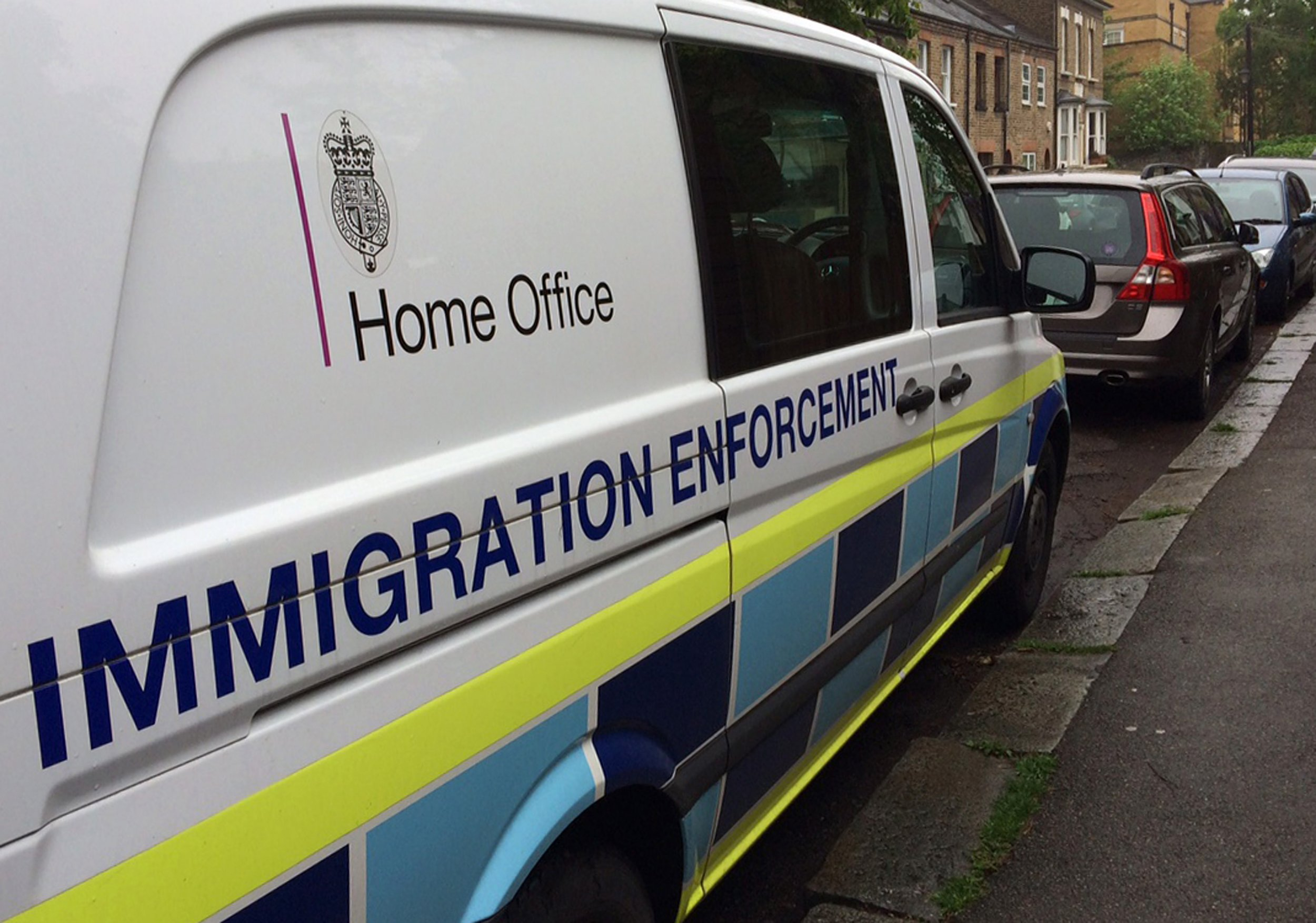 Brexit: Home Office immigration van