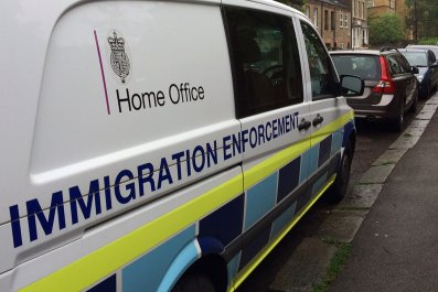 Brexit: Home Office immigration van