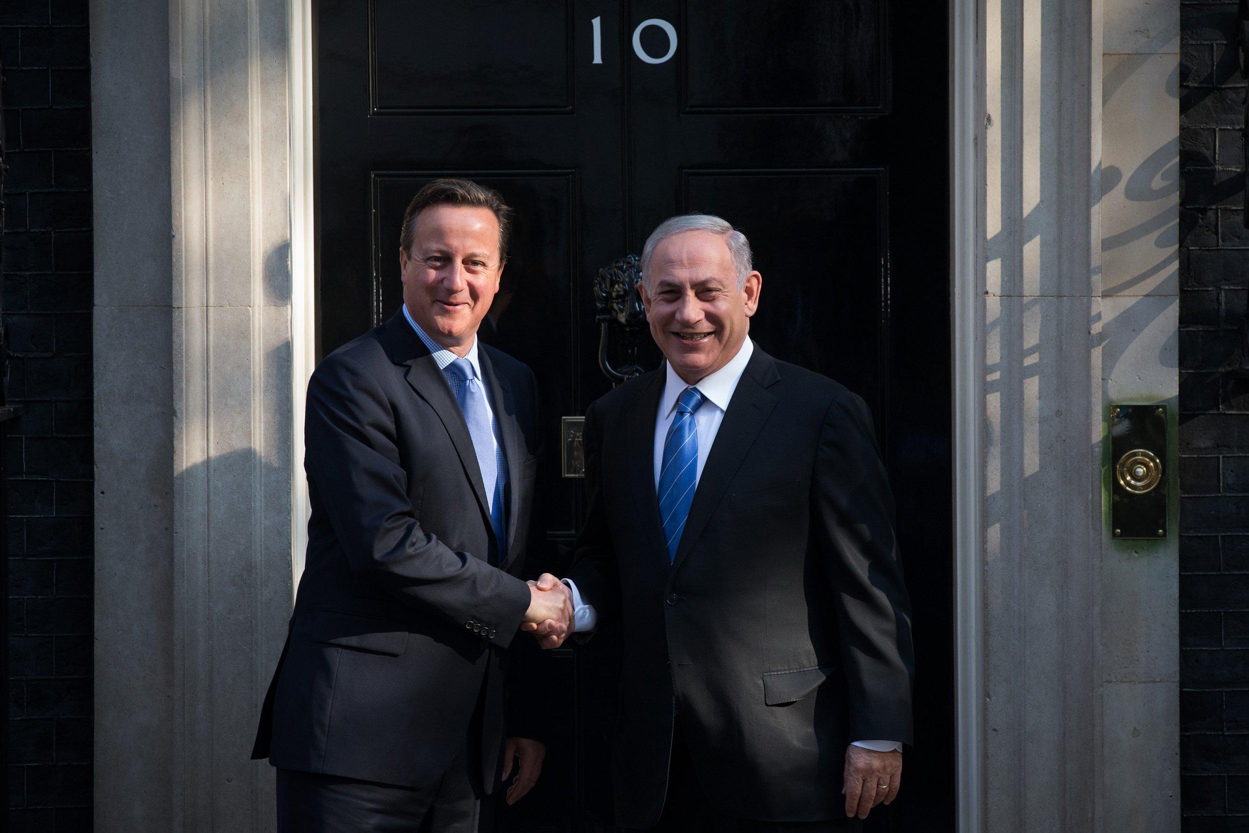 David Cameron and Benjamin Netanyahu