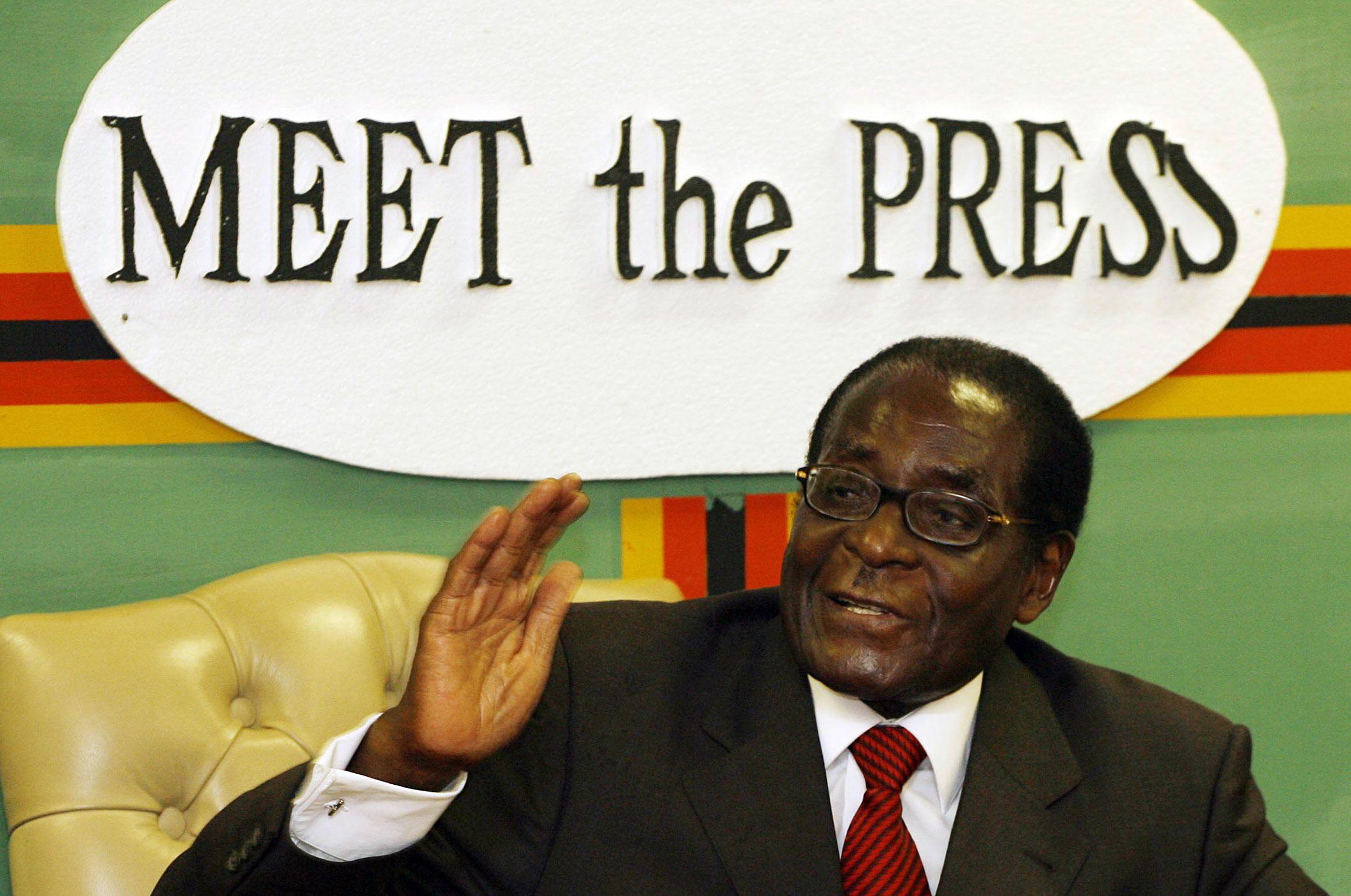 Robert Mugabe meets the press