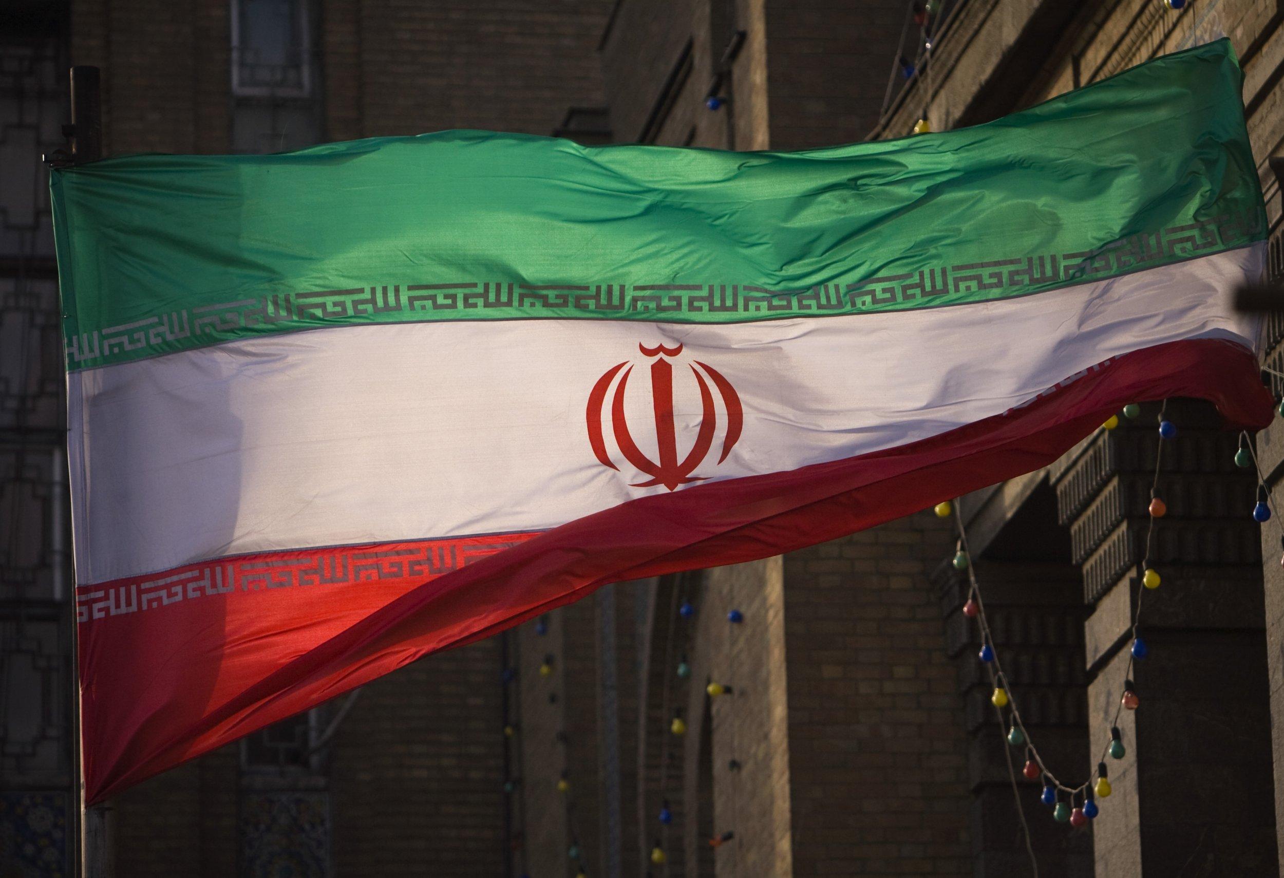 Iran flag in Tehran