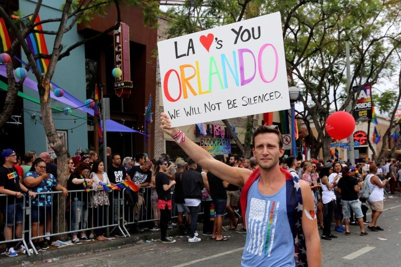 Gay protest marches