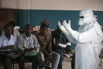 Sierra Leone Ebola health worker