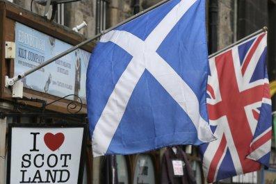 Scottish and U.K. Flags