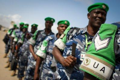 Ugandan soldiers in Somalia