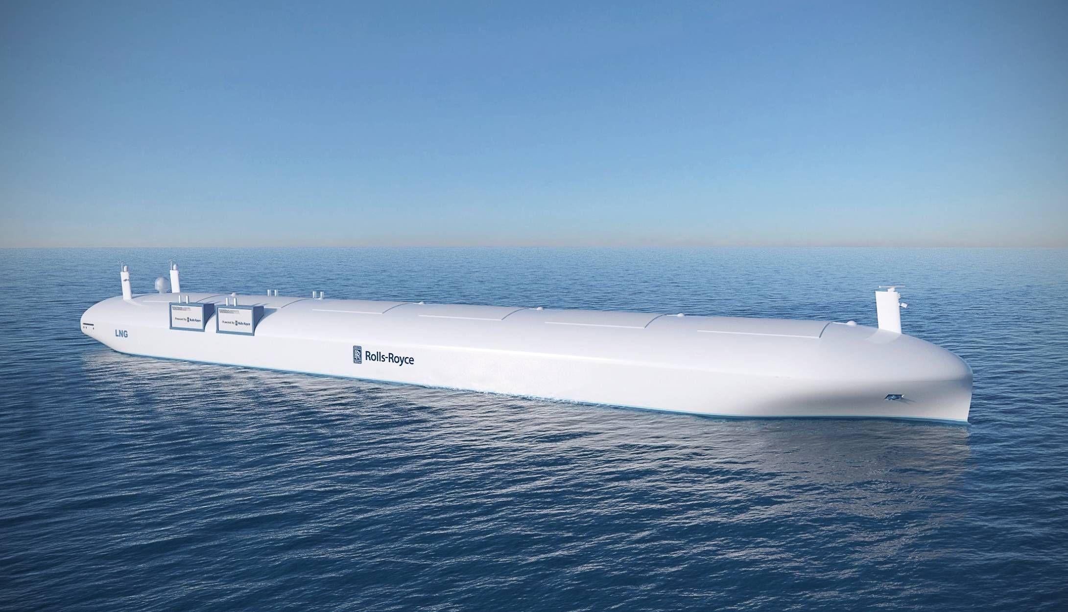 Rolls Royce Plans Self Driving Cargo Ships