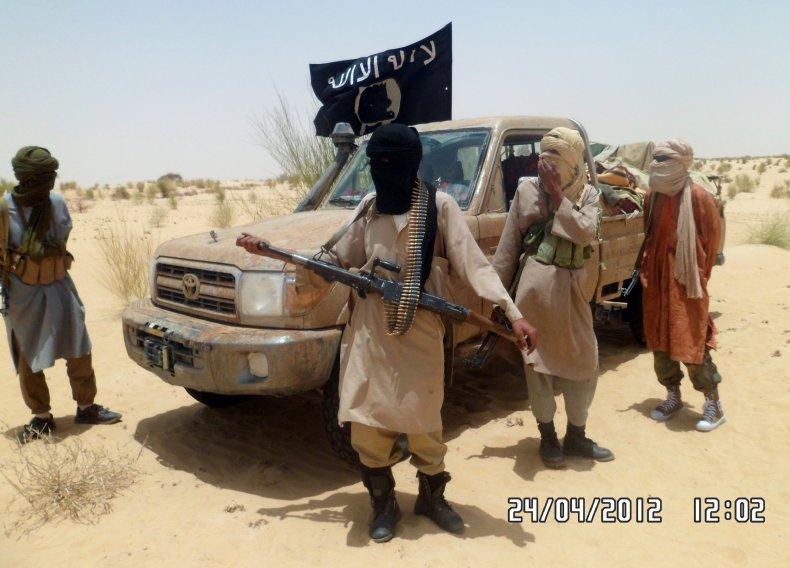 Ansar Dine rebels in Timbuktu