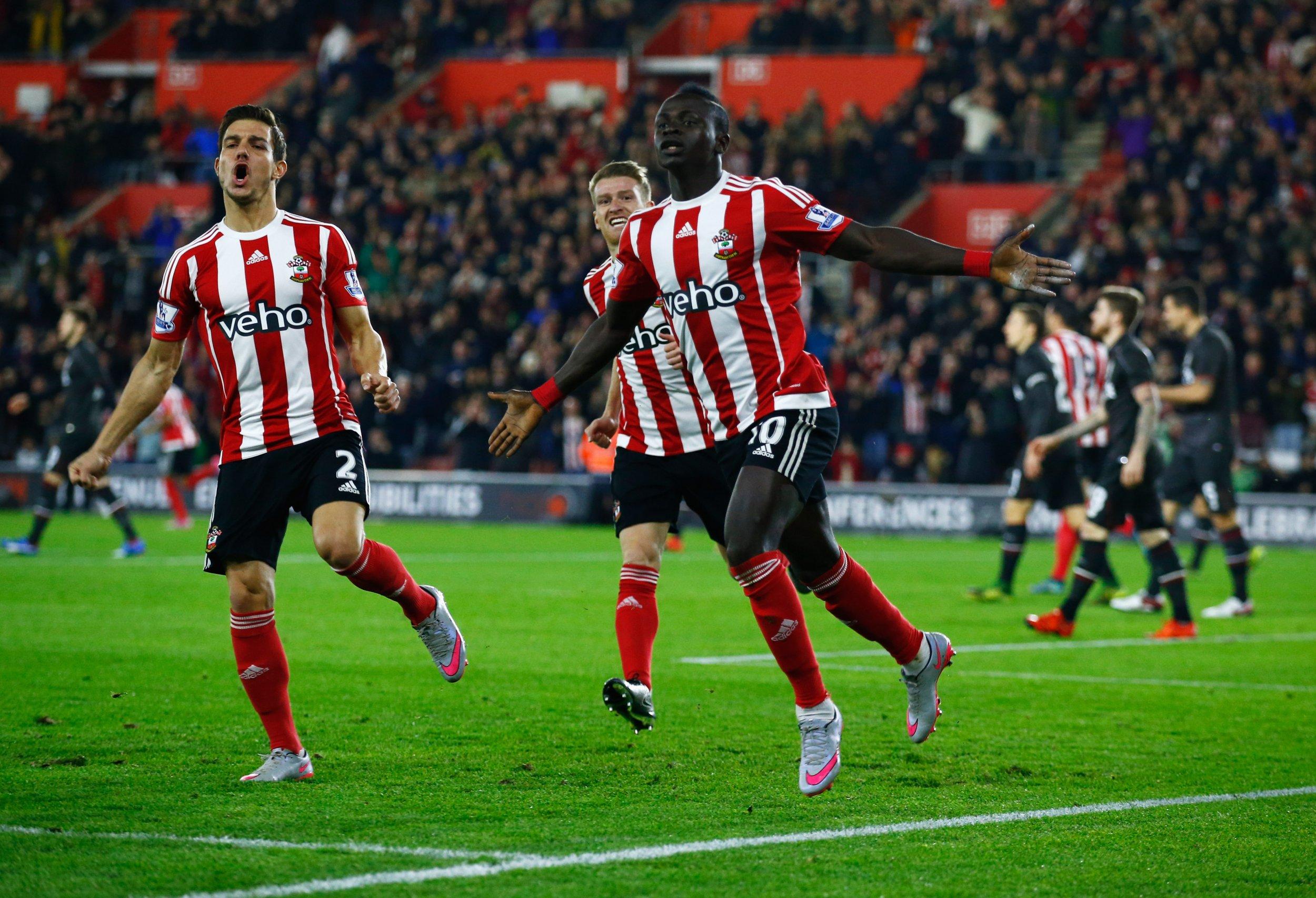 Sadio Mane scores against Liverpool