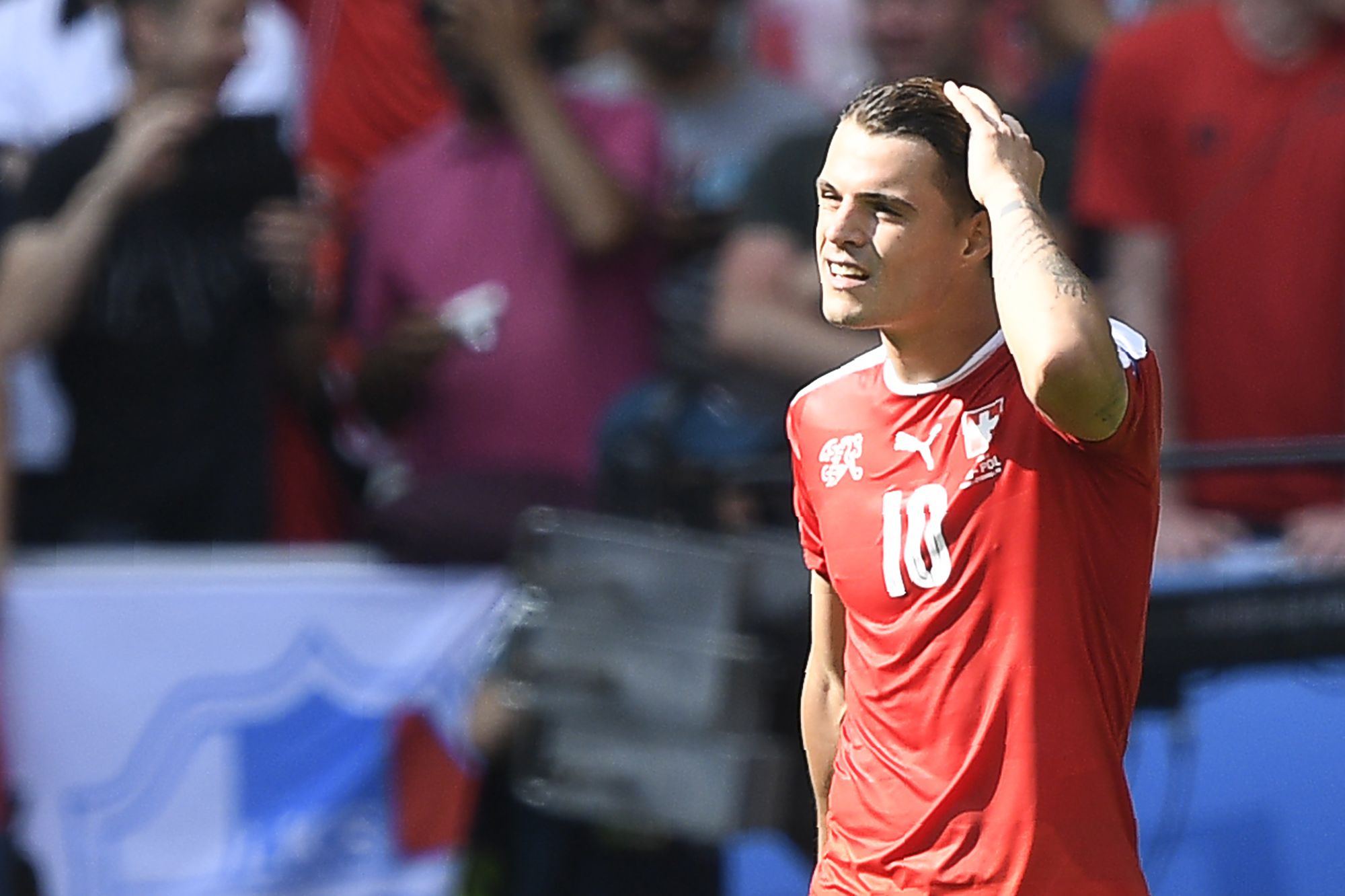 Arsenal and Switzerland midfielder Granit Xhaka.