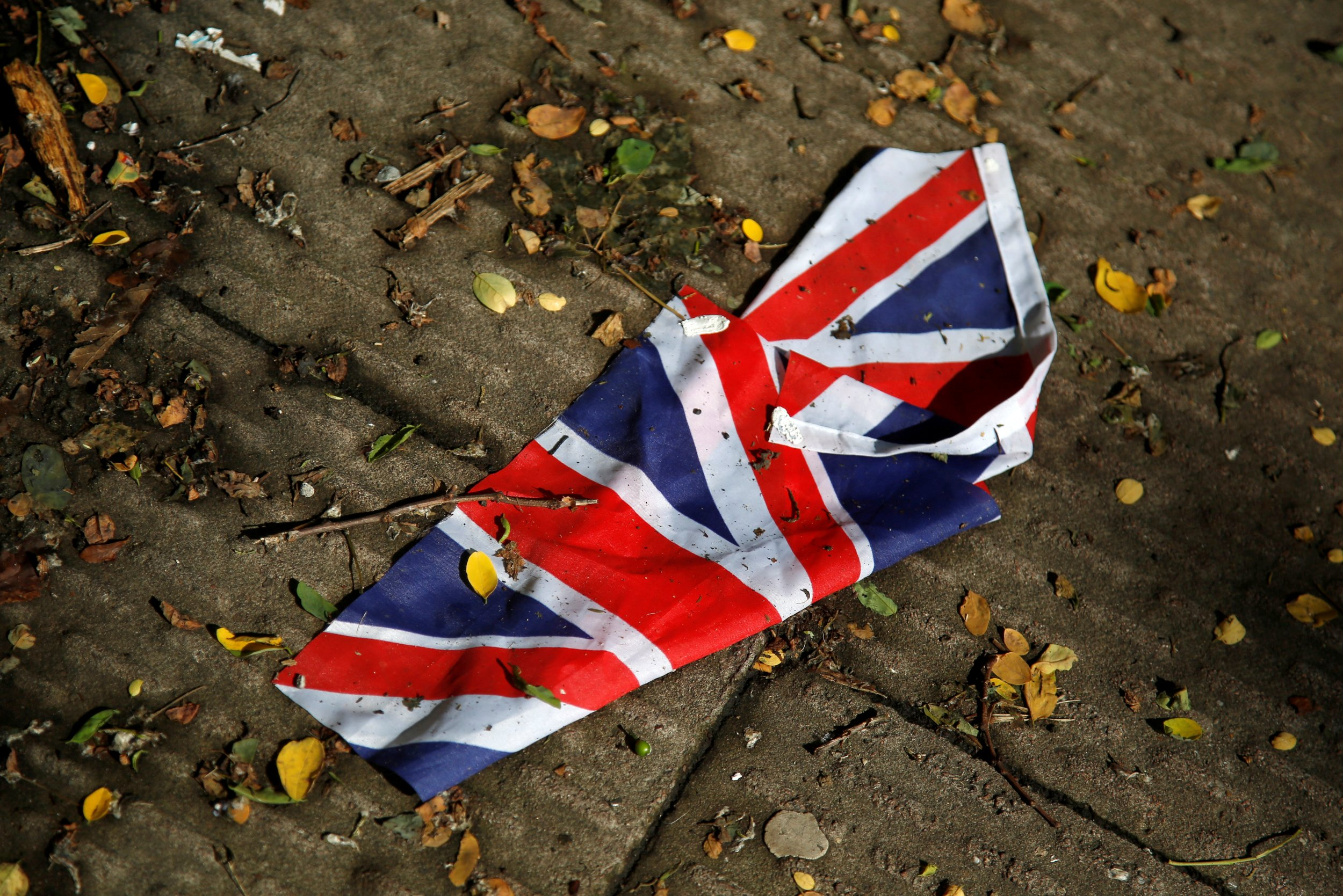 A washed away Union flag