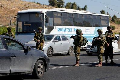 Israeli soldiers near West Bank's Hebron