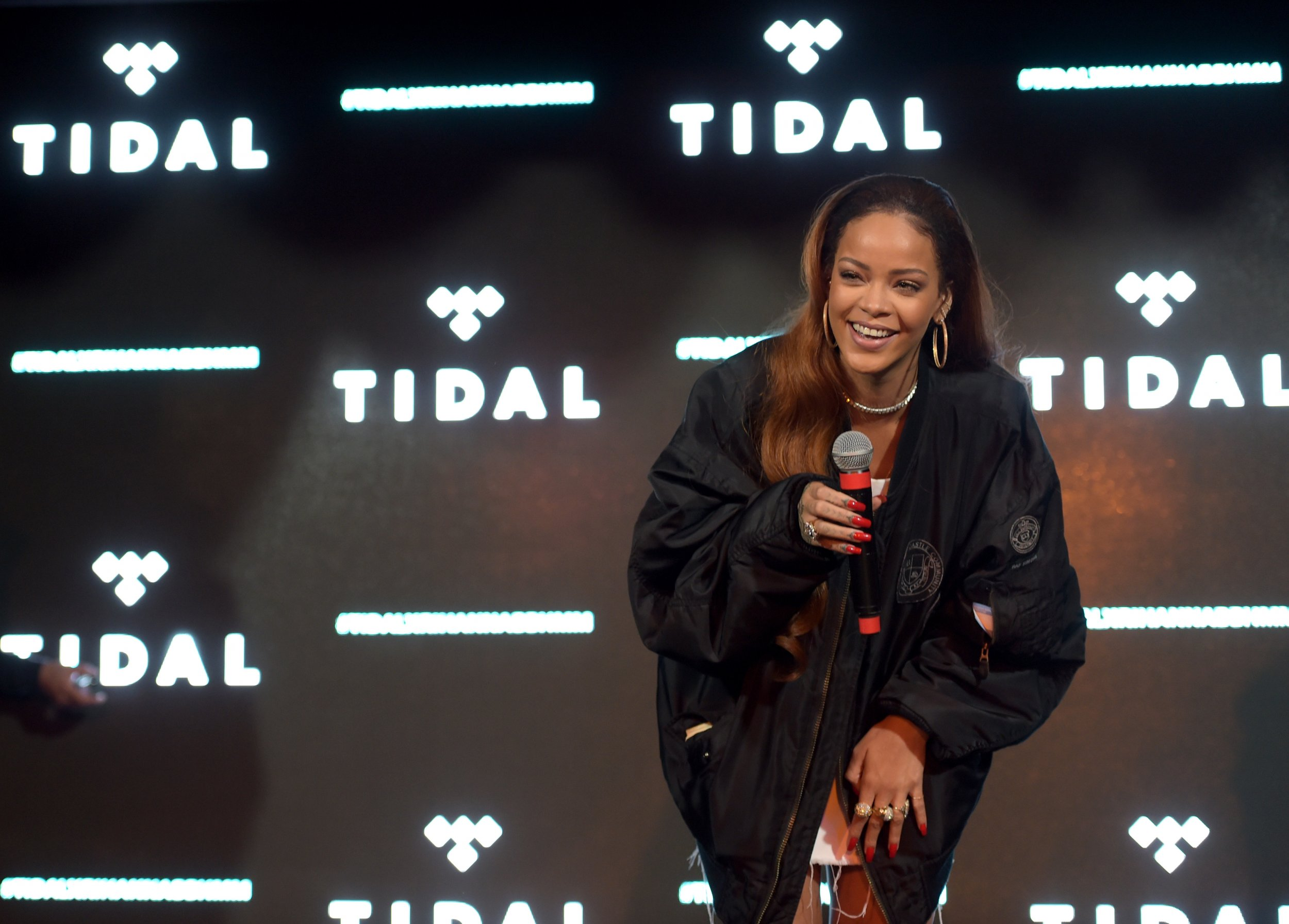 Rihanna at Tidal event