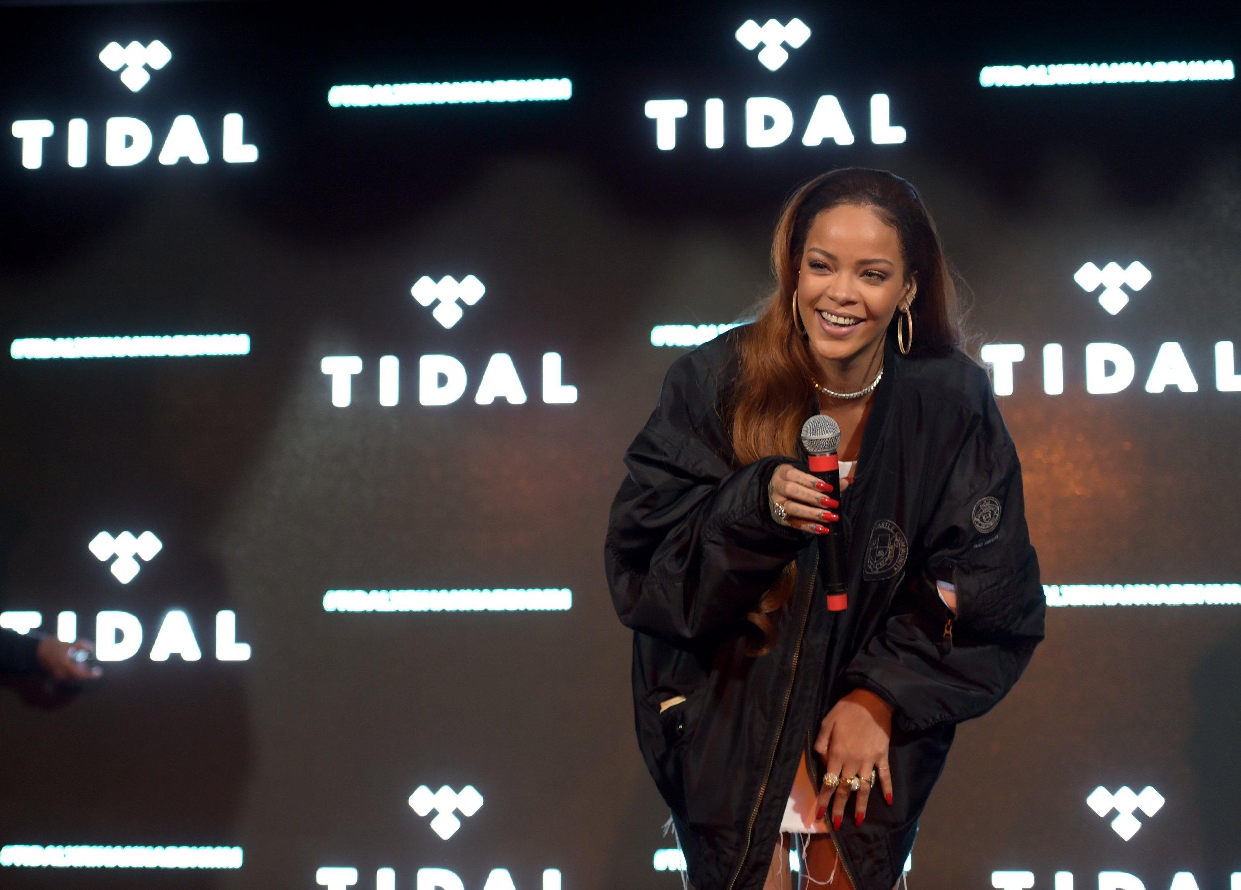 Rihanna at Tidal event