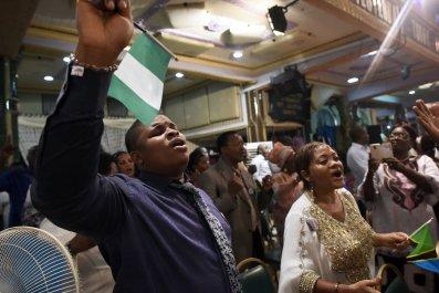 Churchgoers in Nigeria