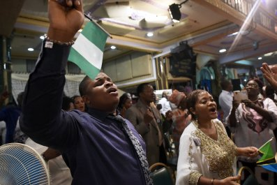 Churchgoers in Nigeria