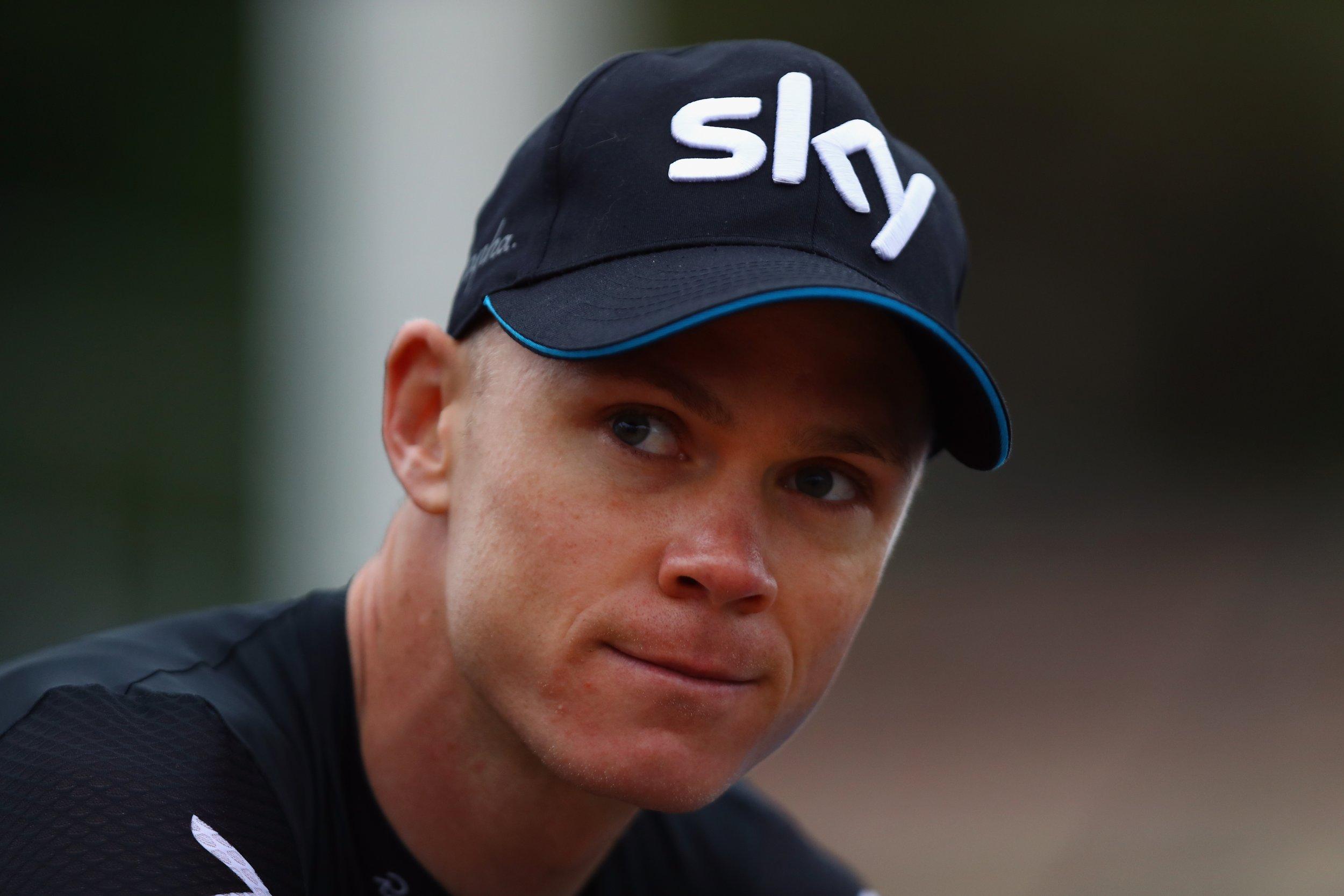 Defending Tour de France champion Chris Froome.