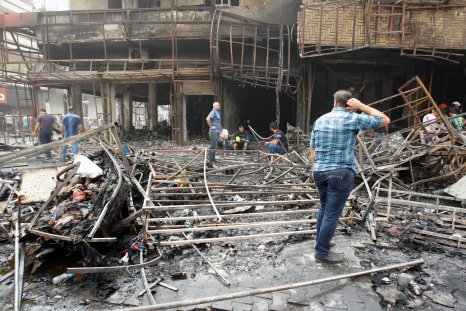 The aftermath of an ISIS bomb, Baghdad, Iraq