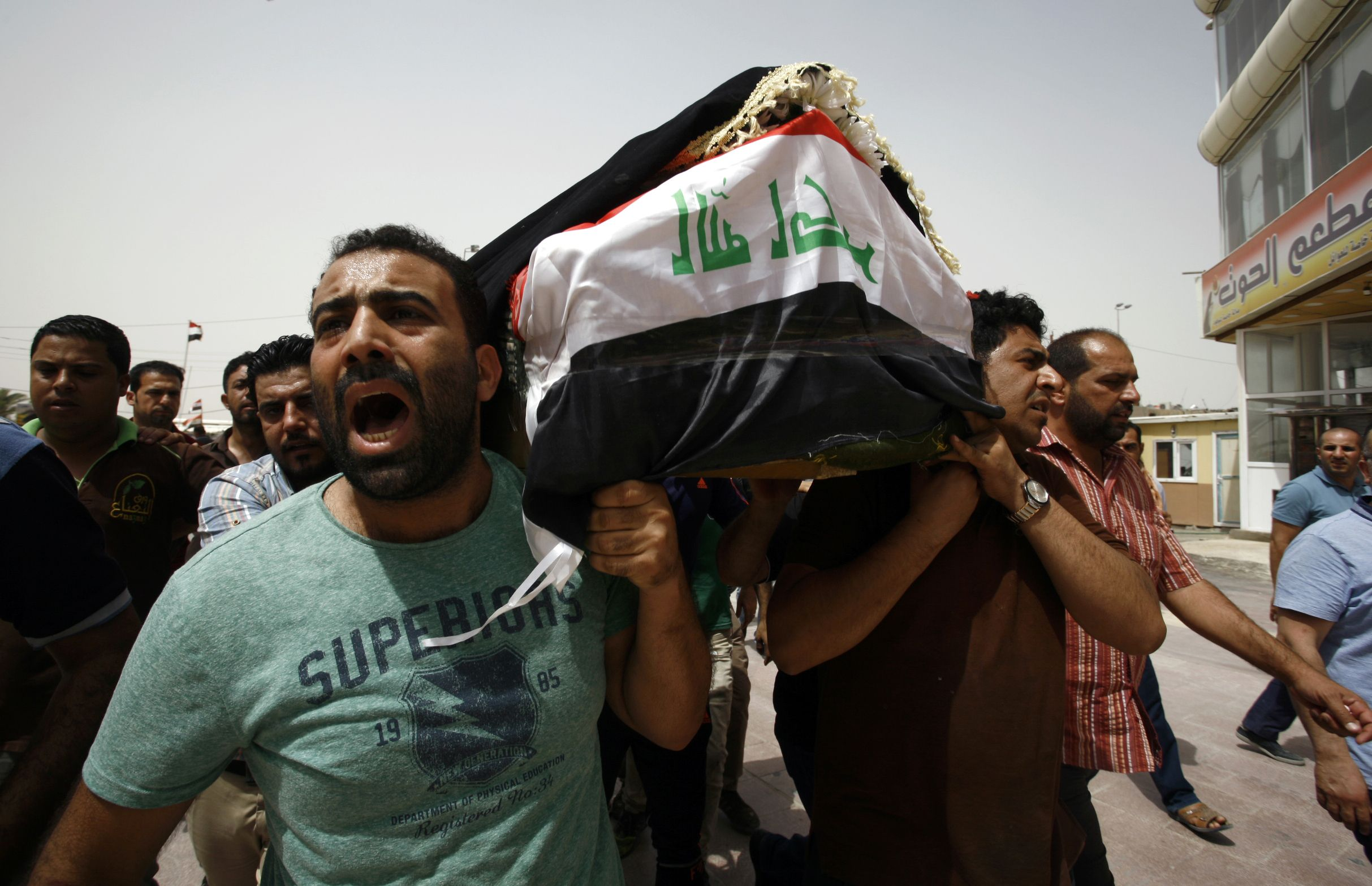 Baghdad bombings funeral