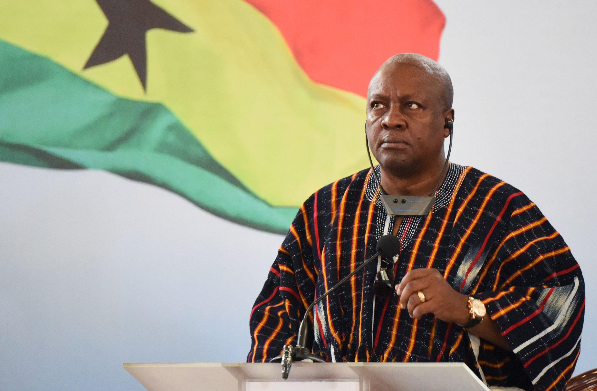 Ghanaian President John Mahama
