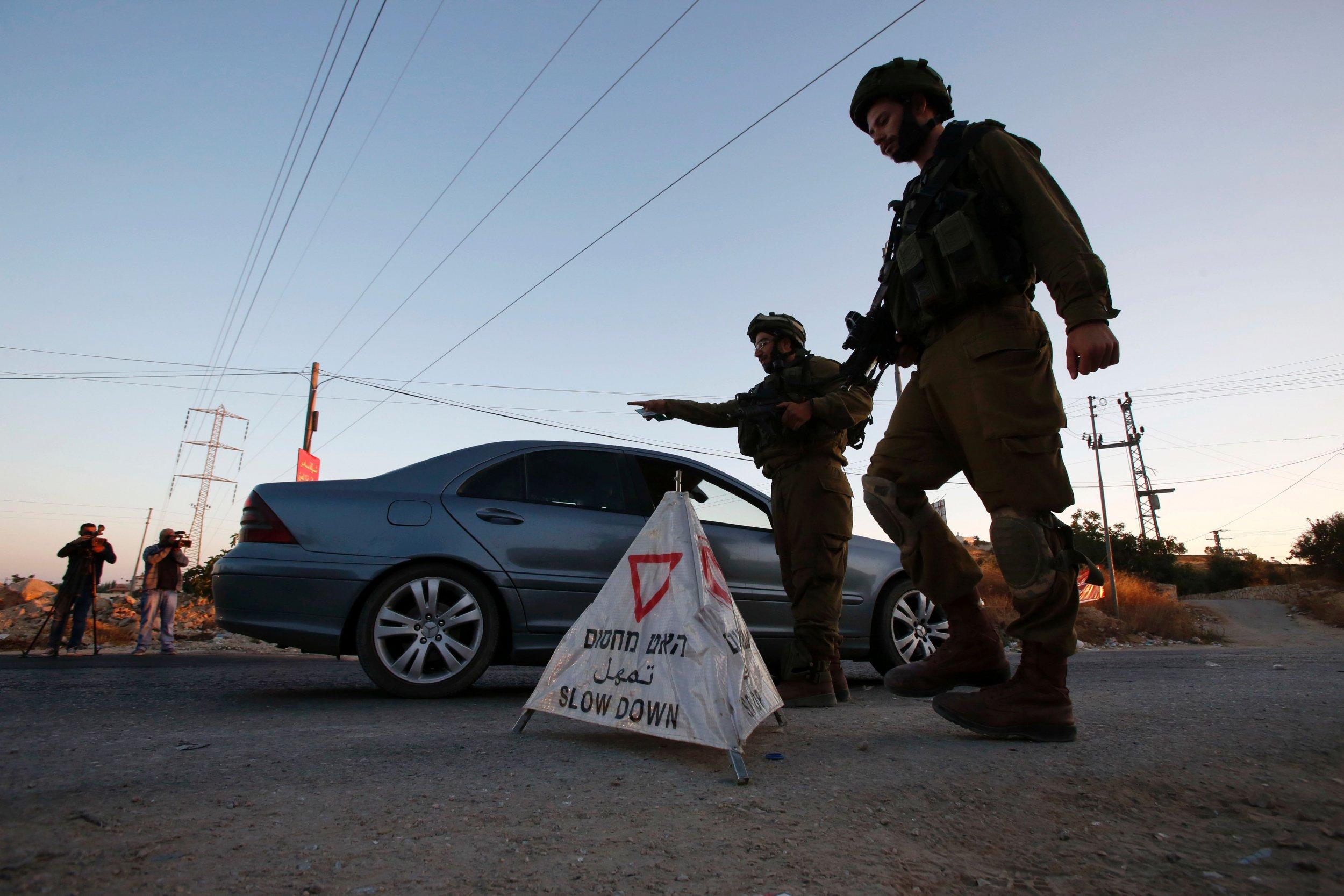Israeli forces in Hebron