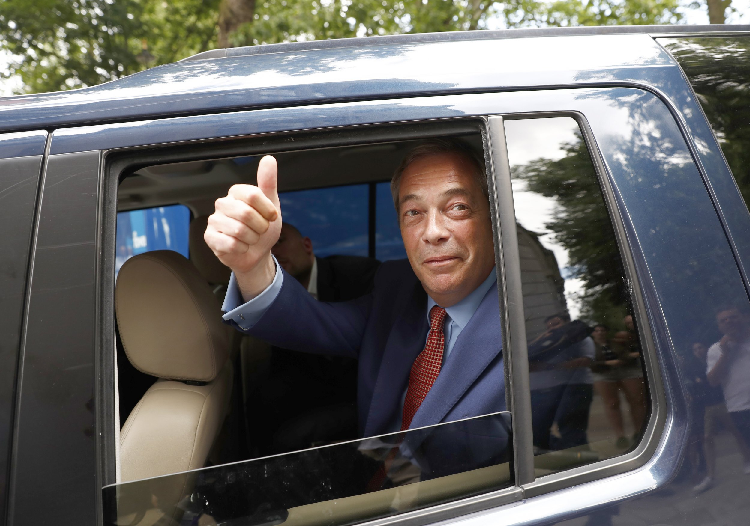 Nigel Farage takes his leave
