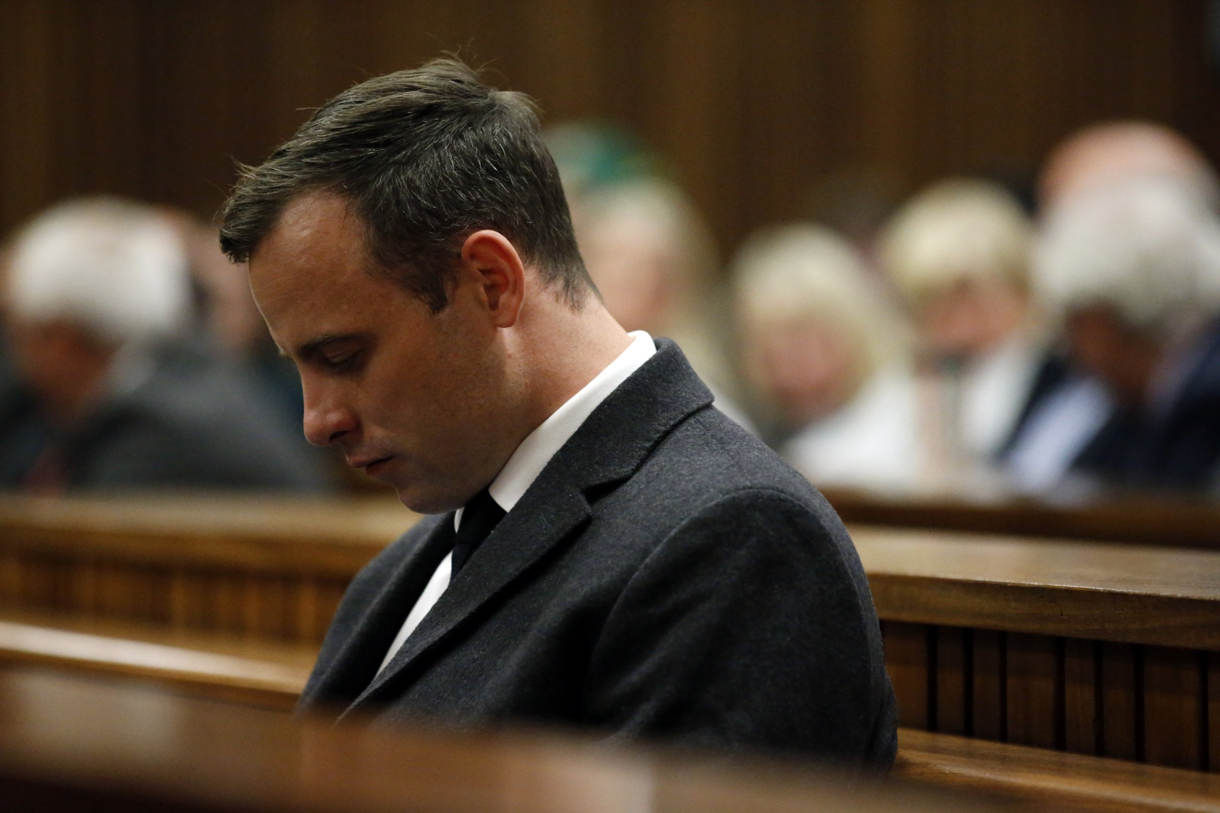 Oscar Pistorius during sentencing