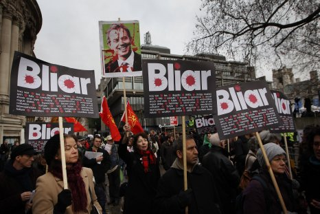 Protests against Tony Blair