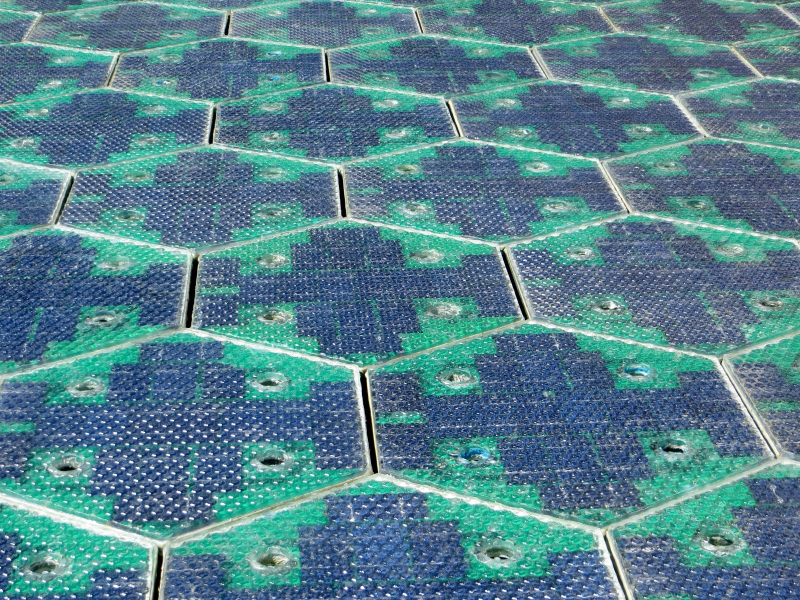 route 66 solar roadways LED
