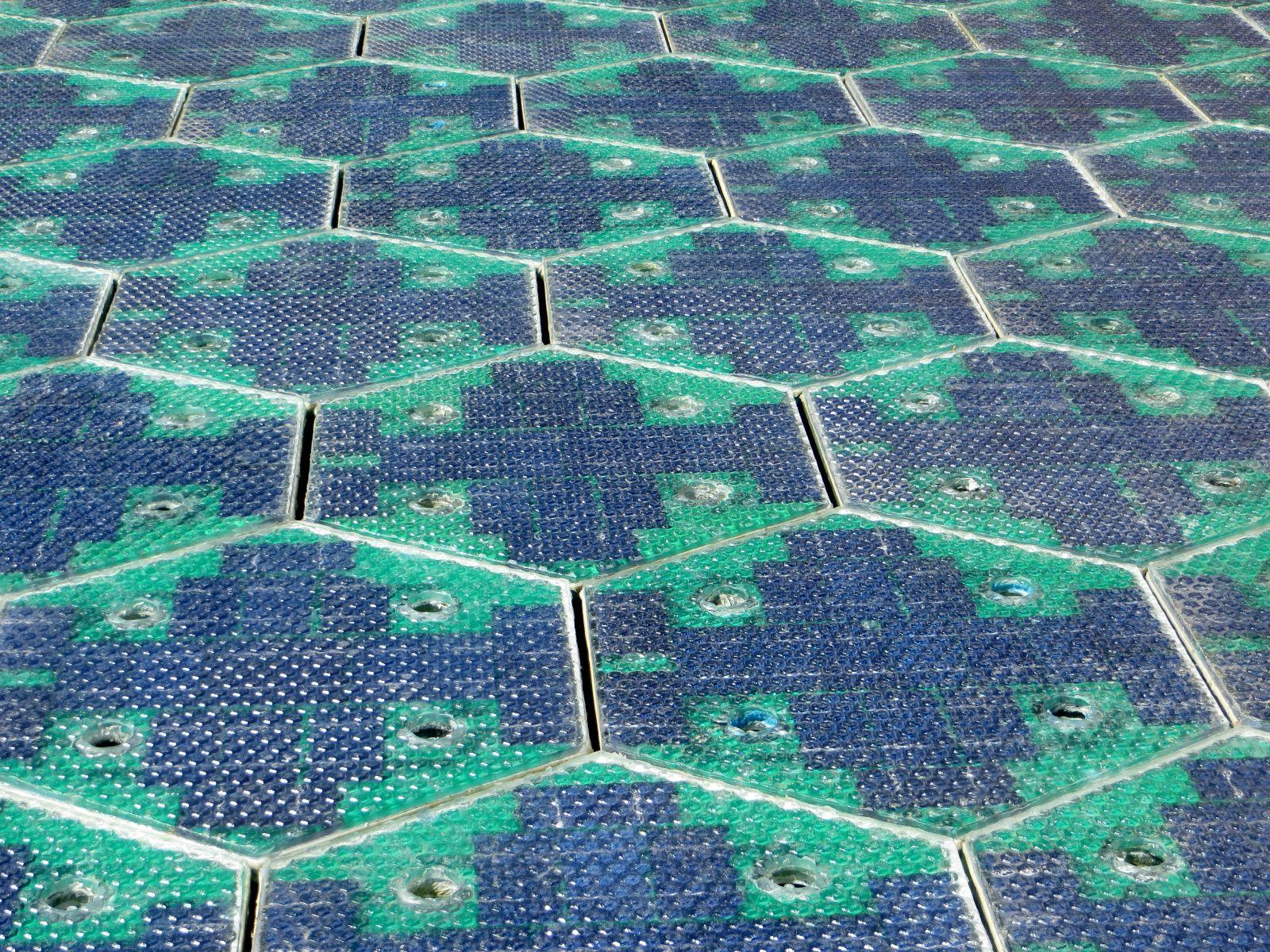 route 66 solar roadways LED