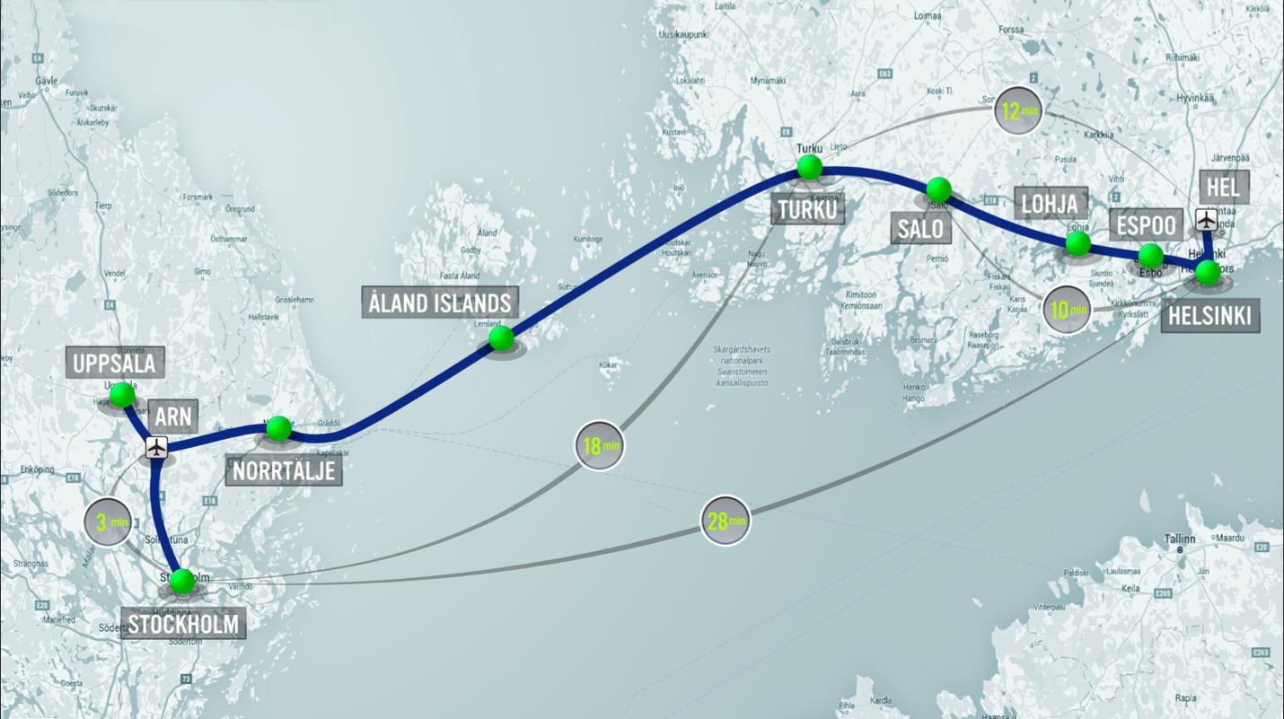 hyperloop one europe map helsinki