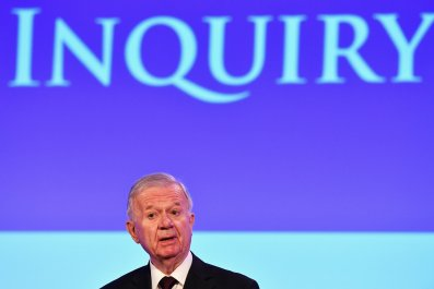 Sir John Chilcot at release of Chilcot Report