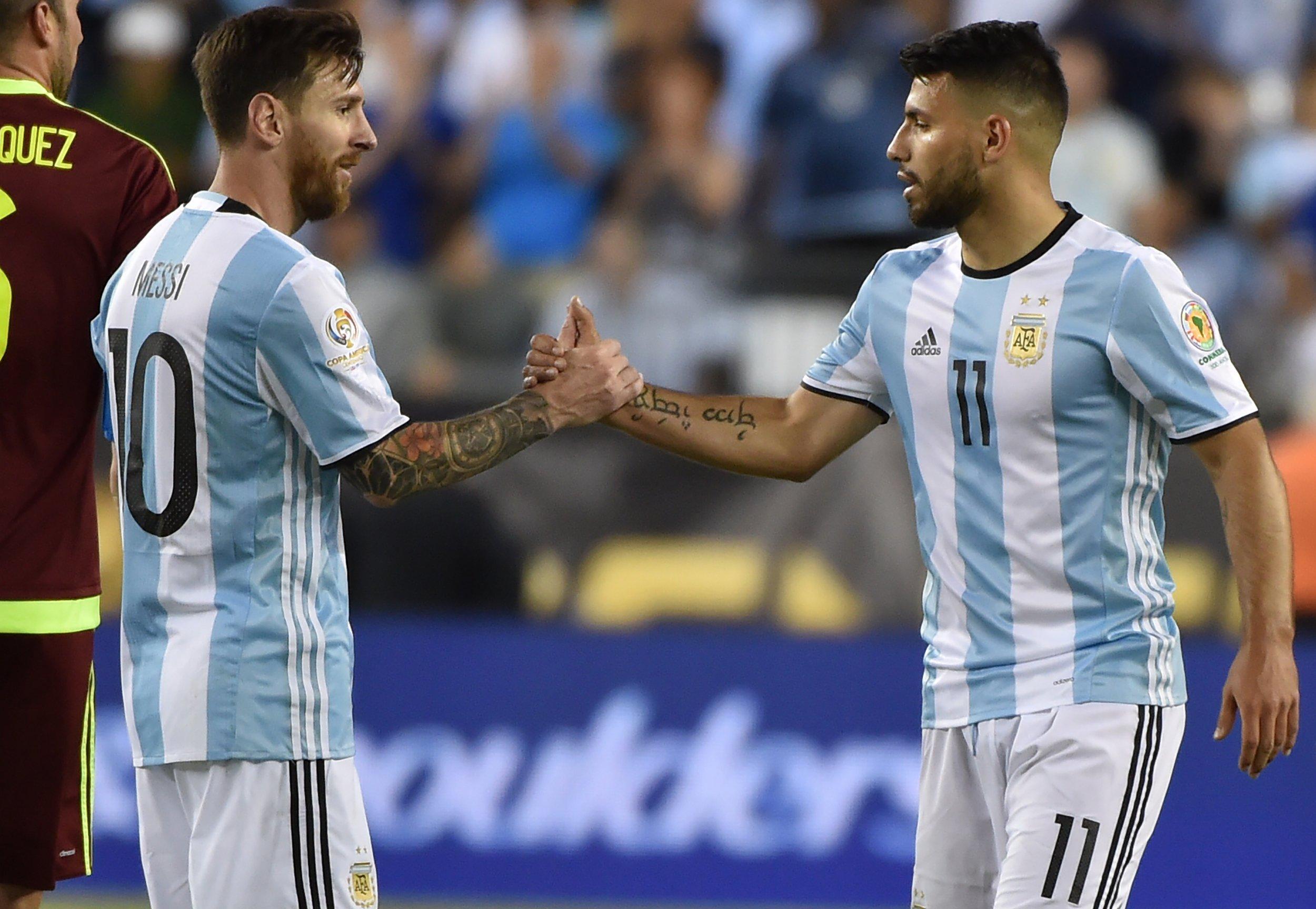 Sergio Aguero Will Quit Argentina If Lionel Messi Doesn t Return