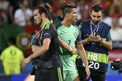 Gareth Bale, left, with Cristiano Ronaldo.