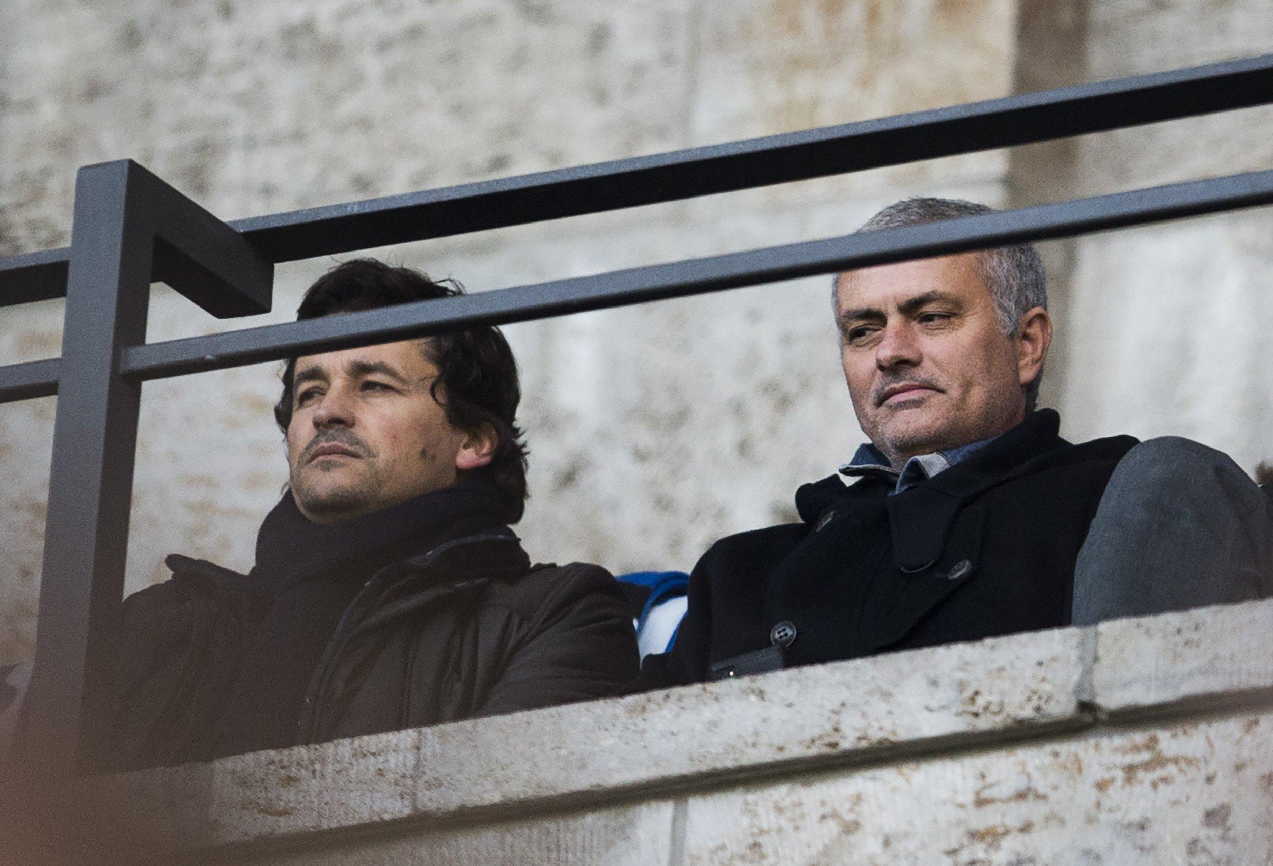 Rui Faria, left, with Jose Mourinho.