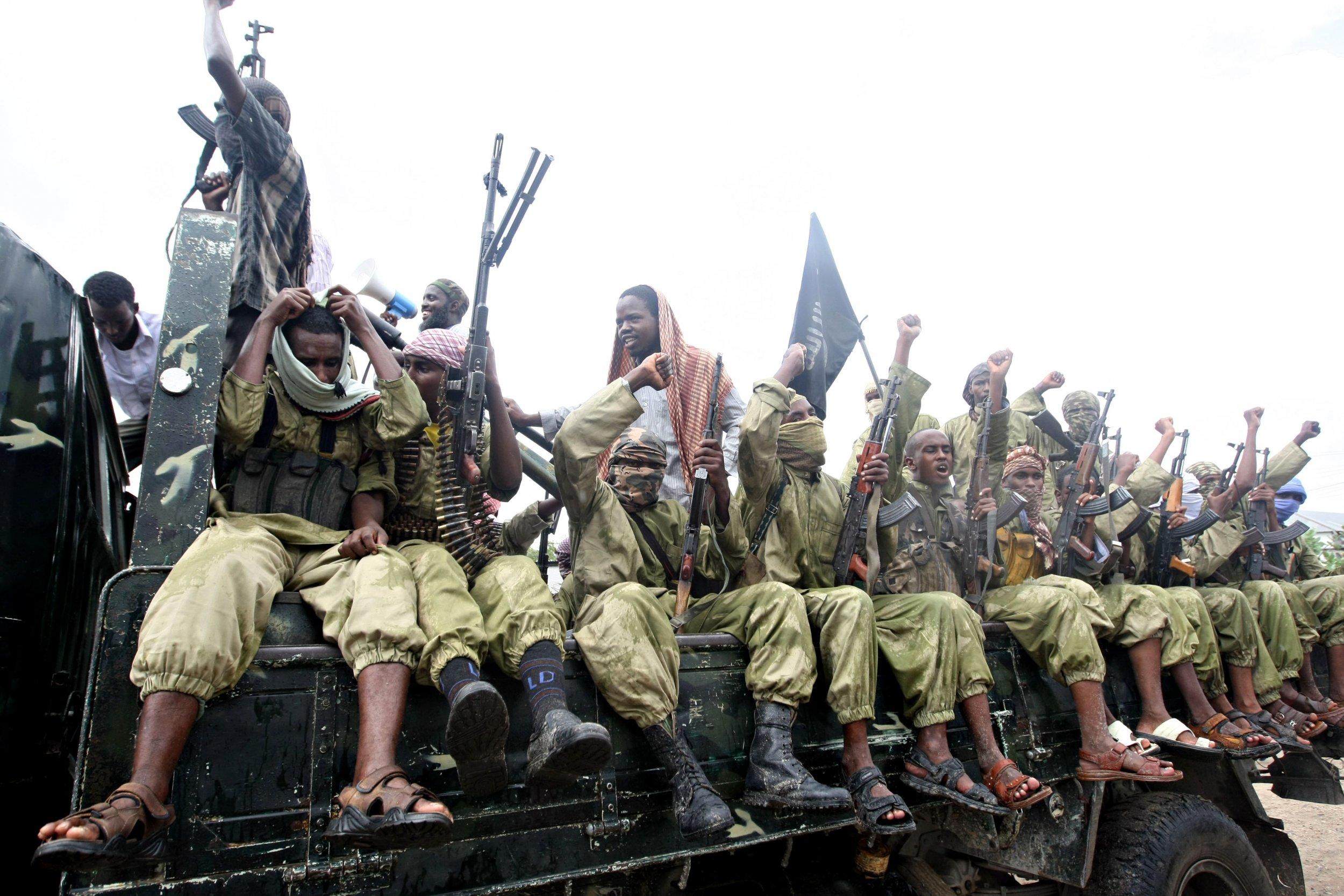 Al-Shabab fighters in Mogadishu