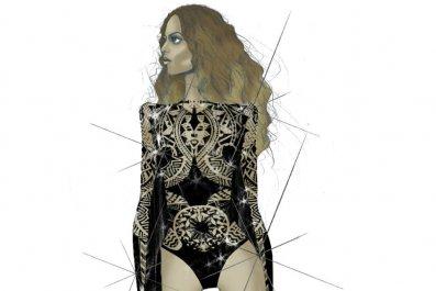 Beyonce black bodysuit by Julien Macdonald