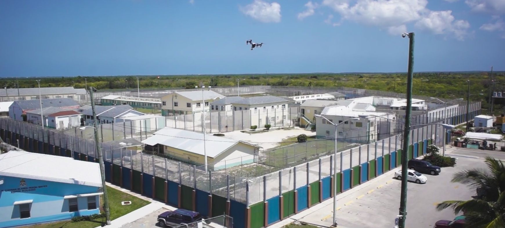 drones drugs prison cayman islands