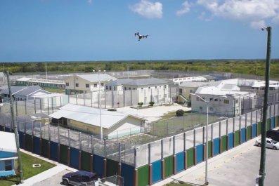 drones drugs prison cayman islands