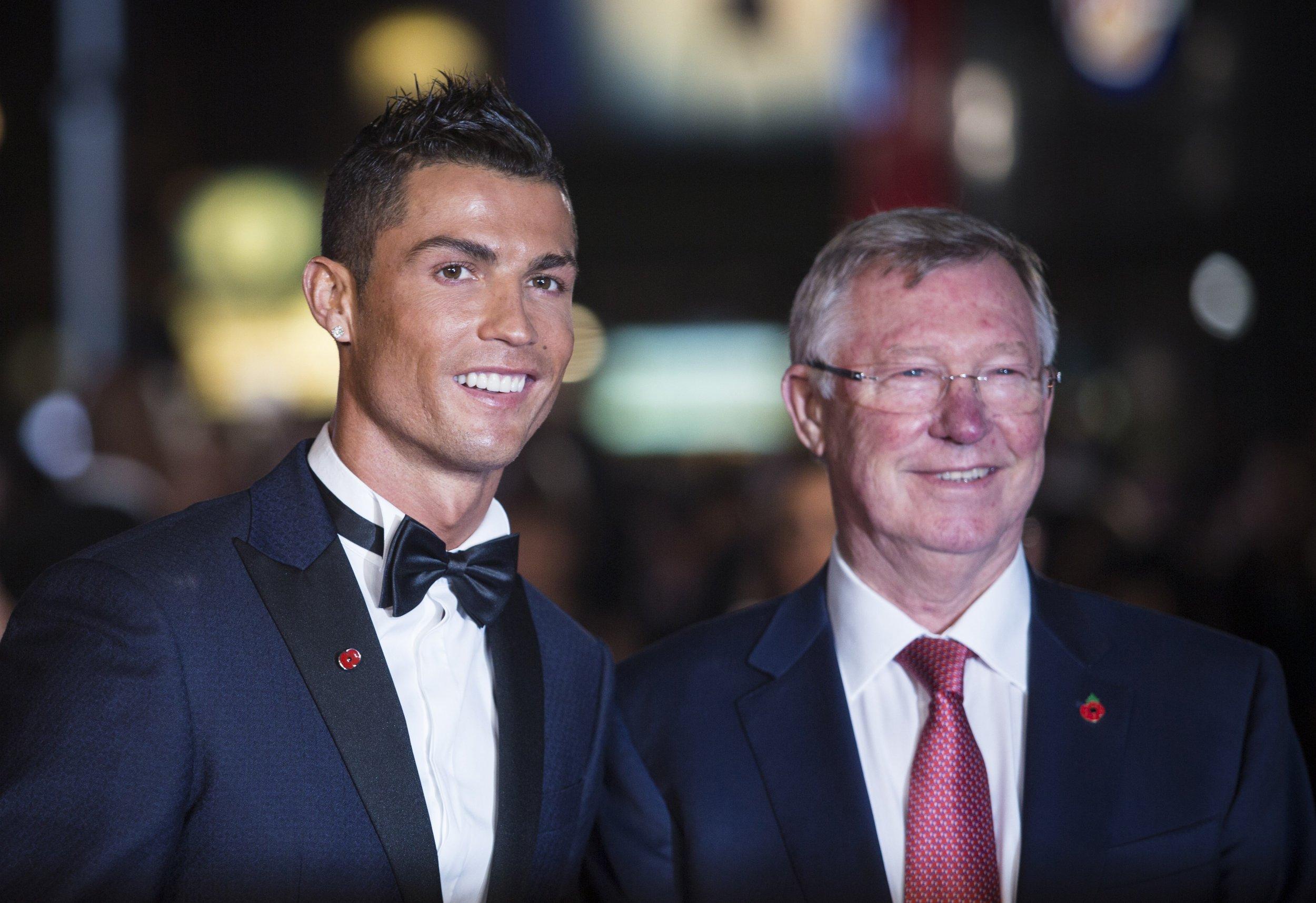 Cristiano Ronaldo, left, with Sir Alex Ferguson.
