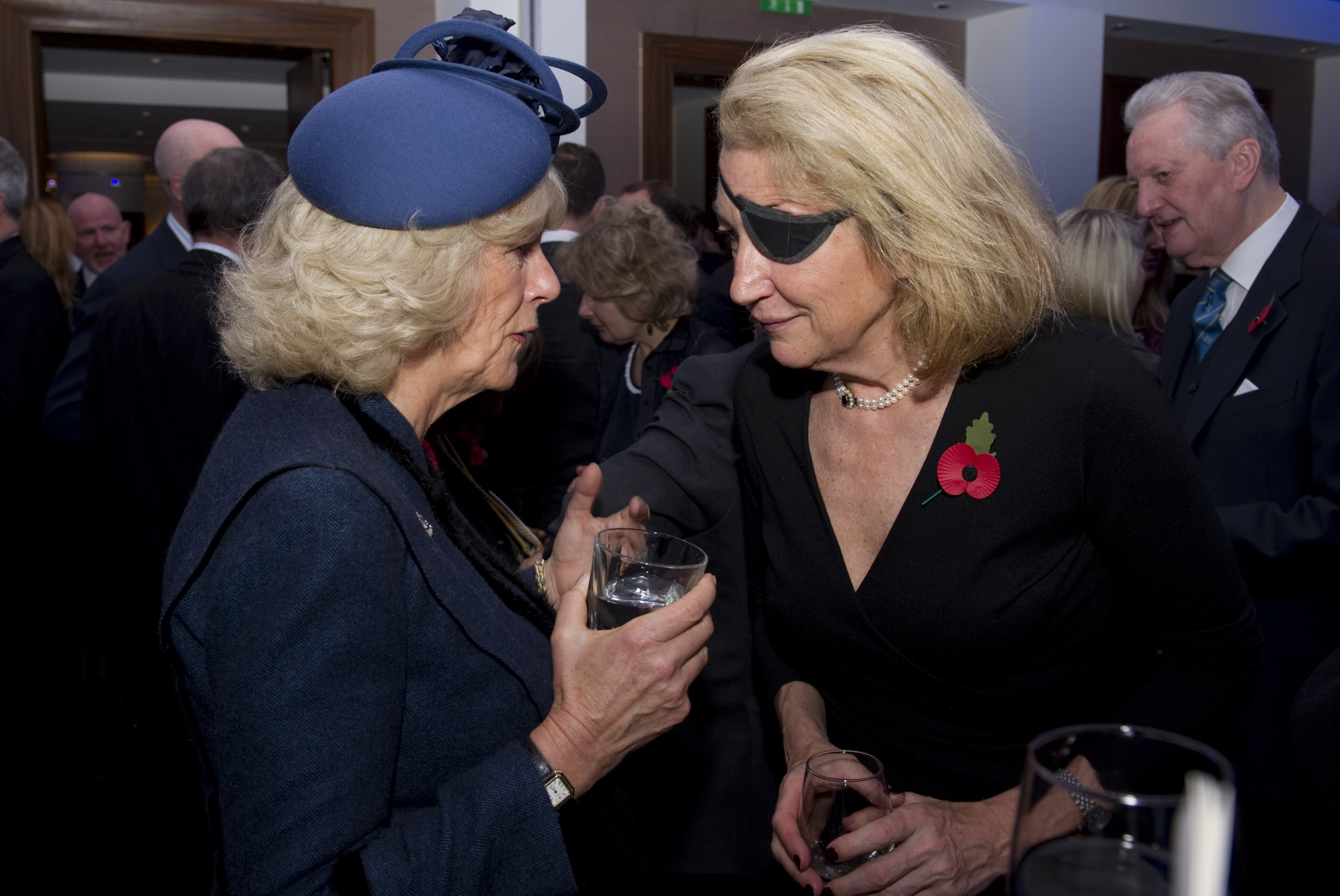Marie Colvin with the Duchess of Cornwall