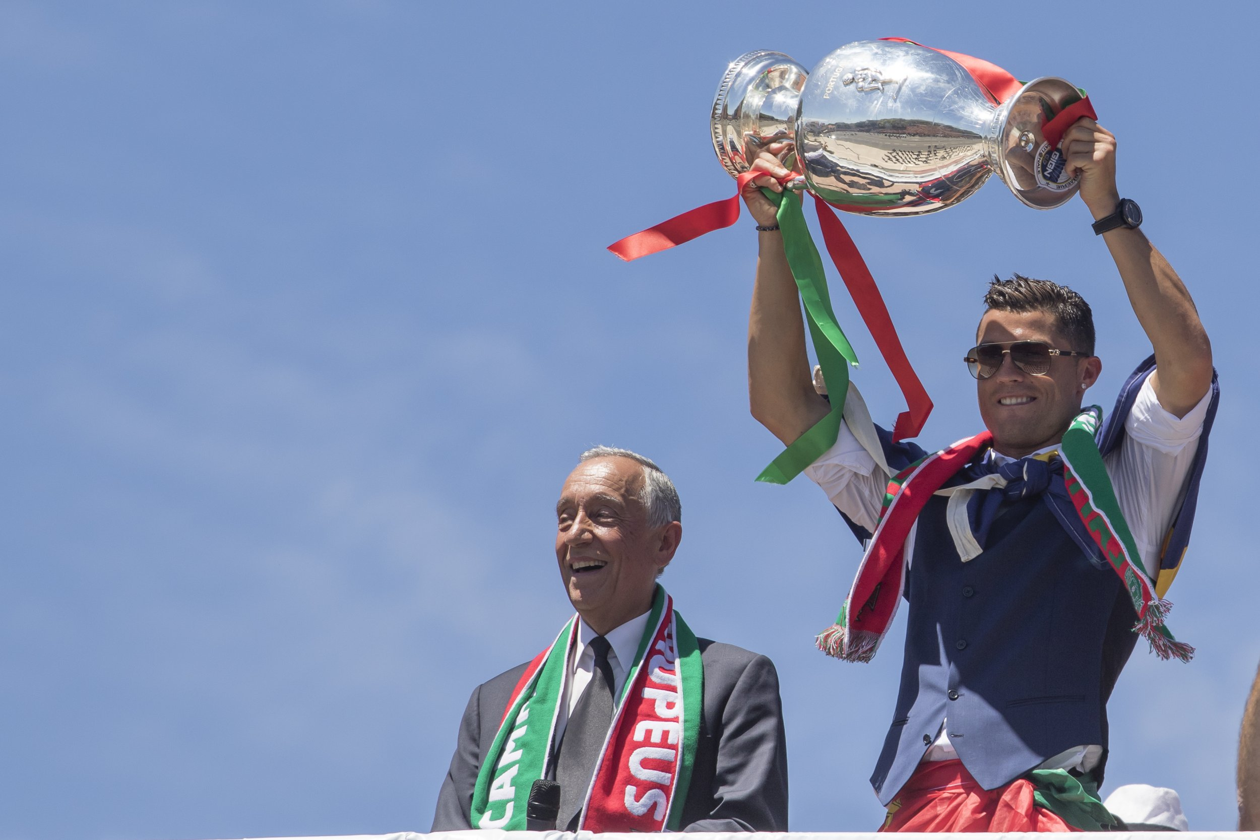 Portugal captain Cristiano Ronaldo, right.
