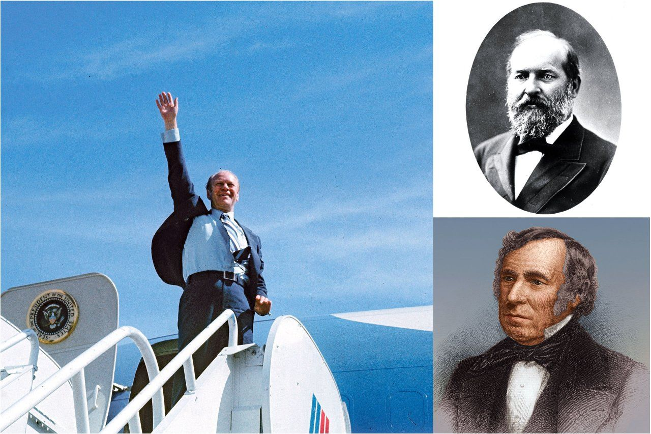 Presidents Zachary Taylor, James Garfield, and Gerald Ford.