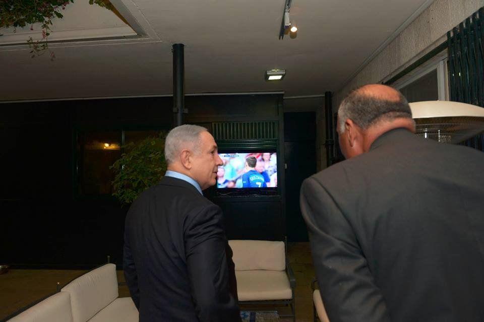 Benjamin Netanyahu and Sameh Shoukry