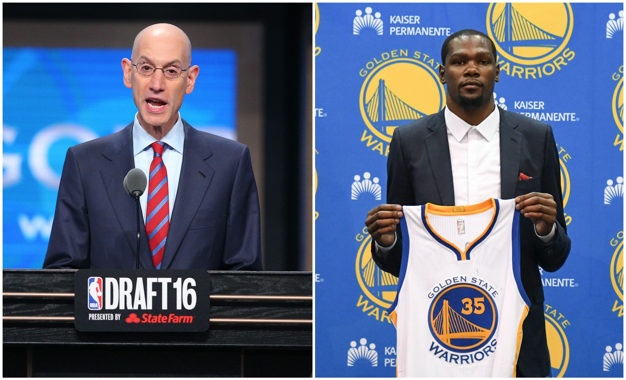 d9d39294f6cd NBA Commissioner Adam Silver Is Not a Fan of Kevin Durant Signing ...