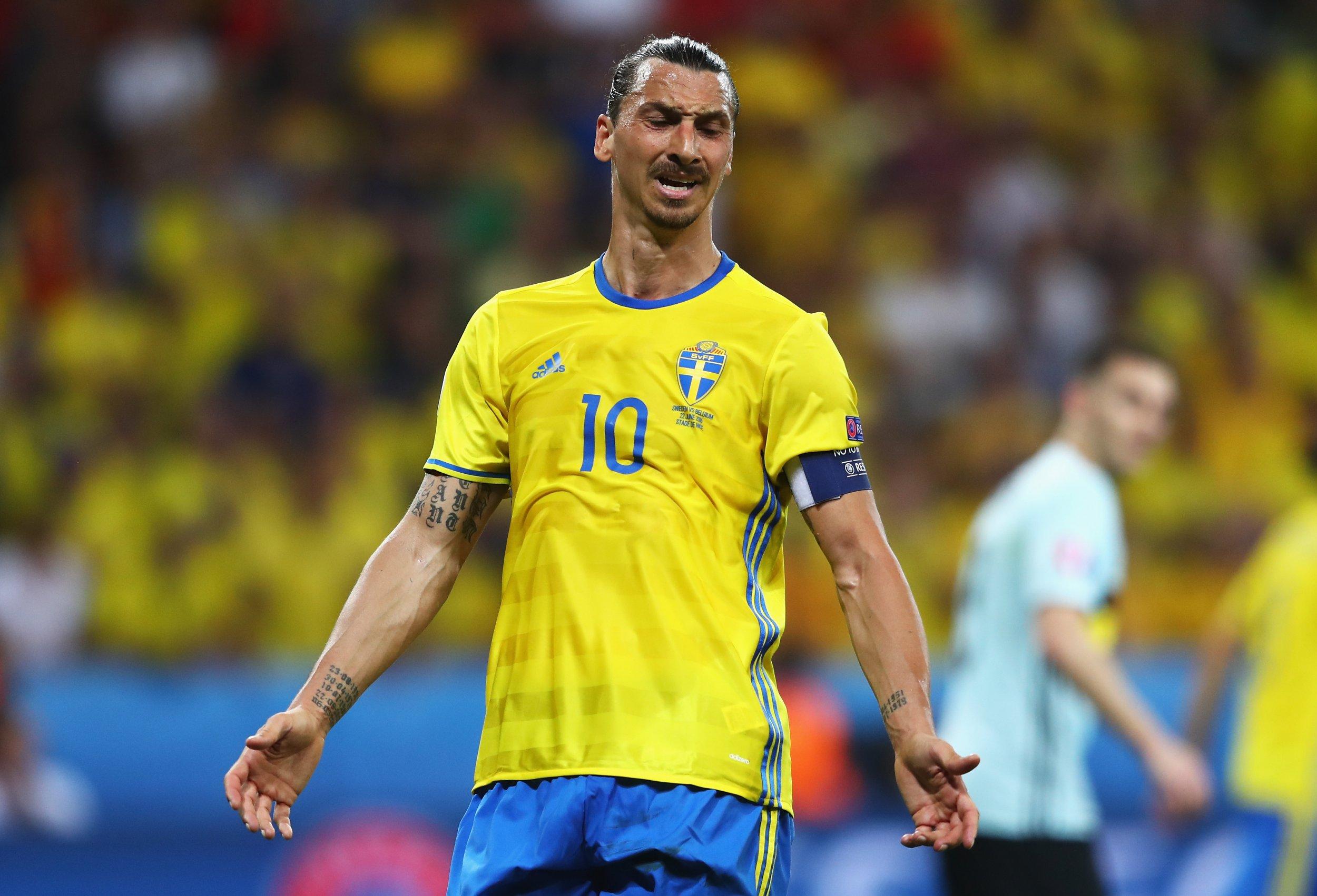 Sweden and Manchester United striker Zlatan Ibrahimovic